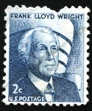 Postage stamp of  Frank Lloyd Wright. USA