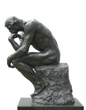 Rodin Thinker isolated on white, clipping path included