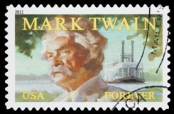 USA Mark Twain postage stamp